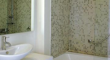 tiny bathroom design ideas with retro tiled design
