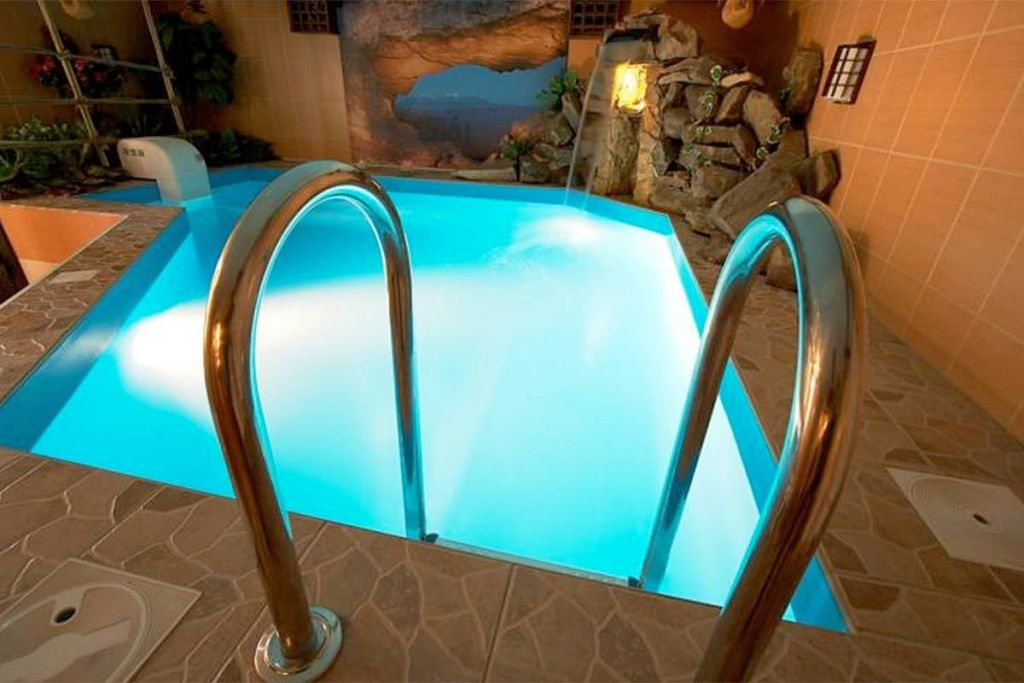 Tiny swimming pools for small indoor space for Swimming pool design 2015