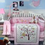 tree and birds cute baby girl bedding ideas