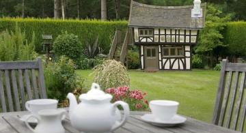 tudor house luxury outdoor playhouse