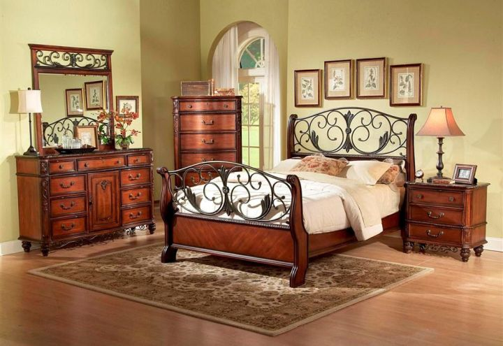 tuscan style bedroom furniture in natural colors