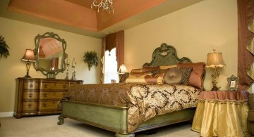 tuscan style bedroom furniture in olive and gold