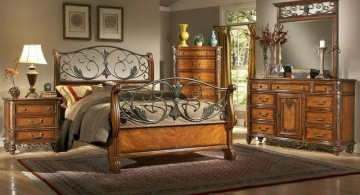 tuscan style bedroom furniture with skinny wire and green accent