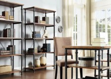 twin shelves vintage industrial bookcase designs