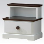 two tiered modern nightstands white