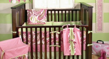 two toned green and pink baby room ideas