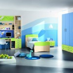 uneven shades of blue cool painting ideas for bedrooms