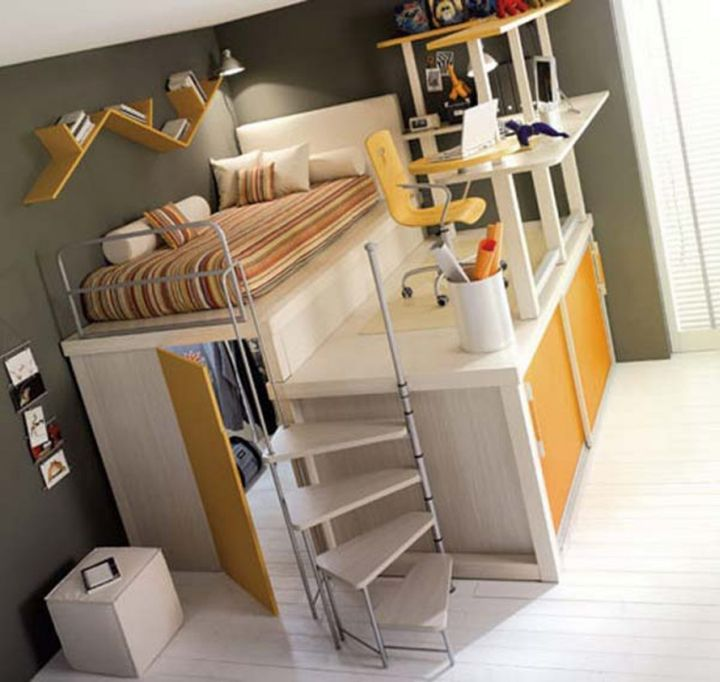 unique adult loft bed with stairs