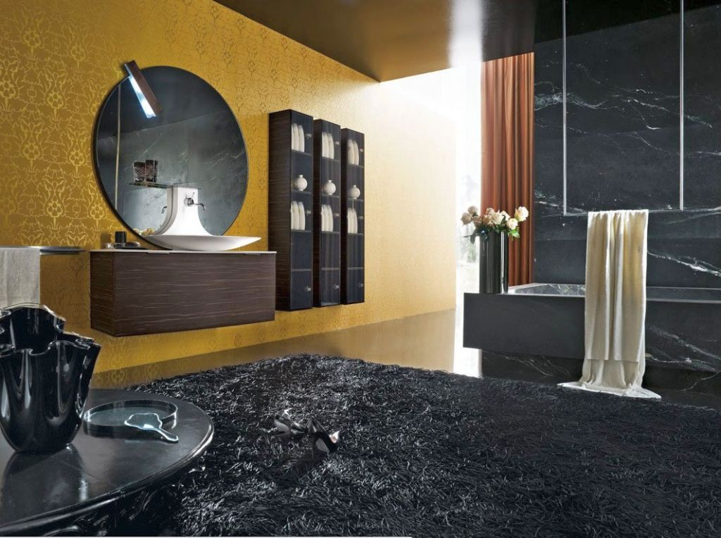 unique black bathrooms ideas