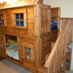 unique bunk beds rustic bed plans