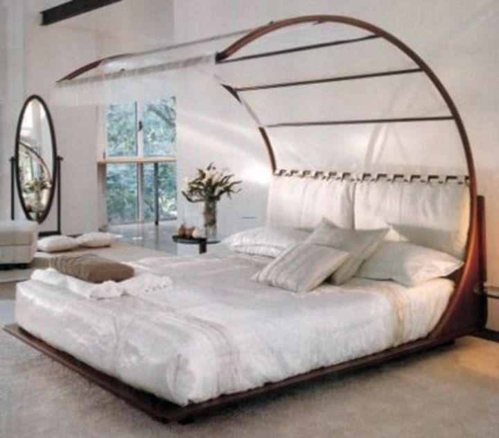 unique canopied curved bed designs