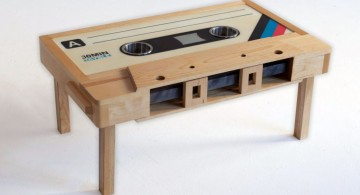 unique casette wood coffee table designs