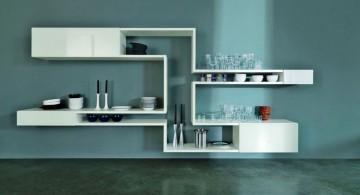 unique contemporary floating shelf decorating ideas