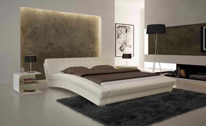 unique curved bed designs with matching nightstand