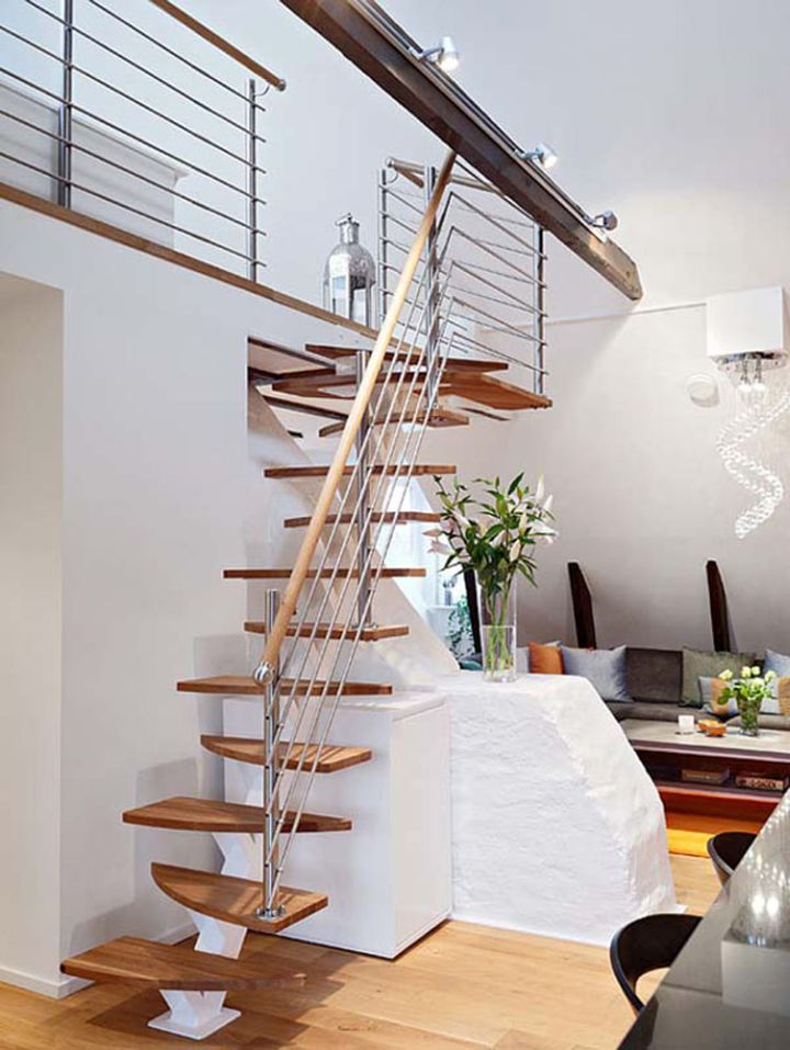 unique design wooden stairs