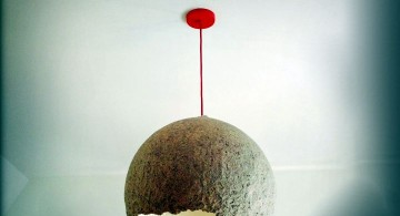 unique diy pendant lighting with broken paper mache