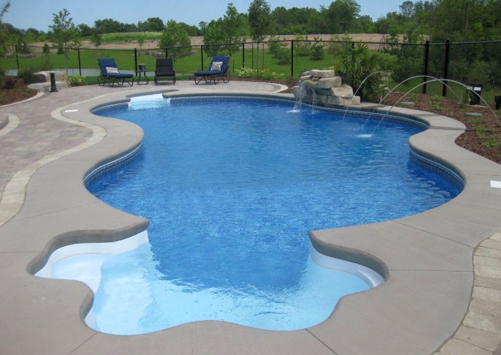 Unique free formed pool shapes and designs for Pool design free