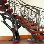 unique gothic style wooden staircase designs