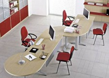 unique shaped desk for minimalist office furniture