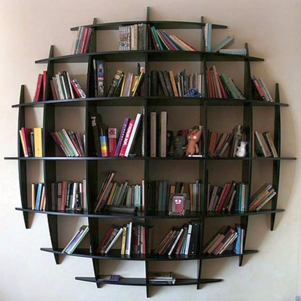 unique spherical vintage industrial bookcase designs