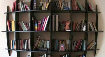 unique spherical vintage industrial bookcase designs