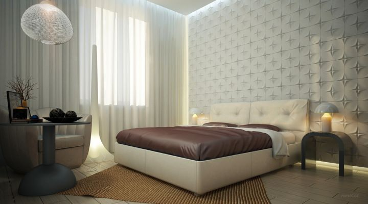 unique textured bedroom wall panel design ideas