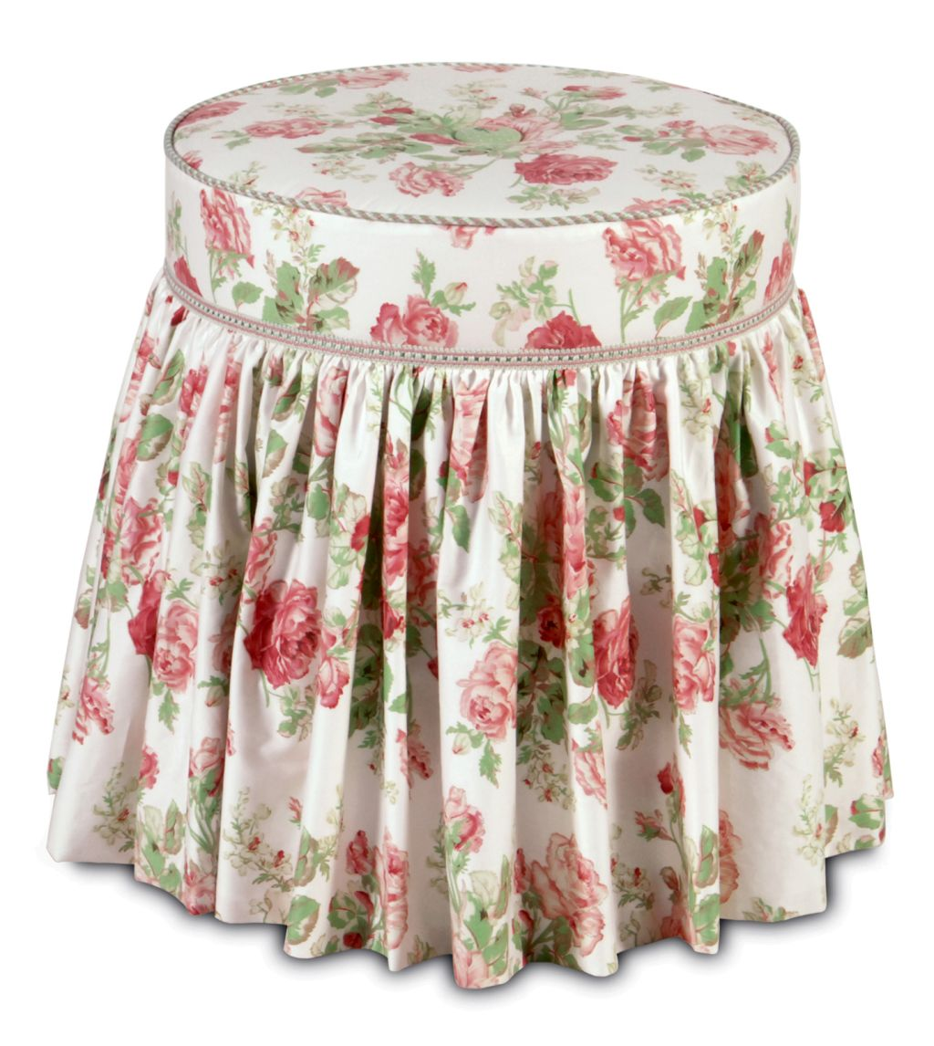 Vanity Chair With Skirt In Floral Pattern