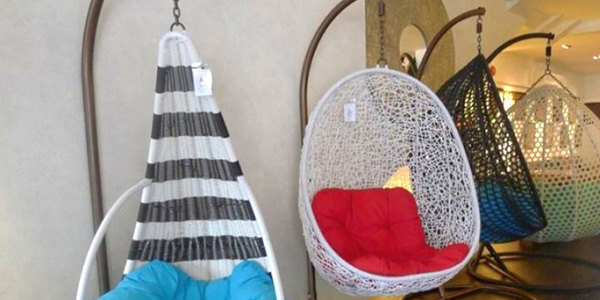various shapes of bedroom swing chair