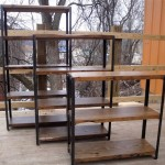 various sizes of vintage industrial bookcase designs