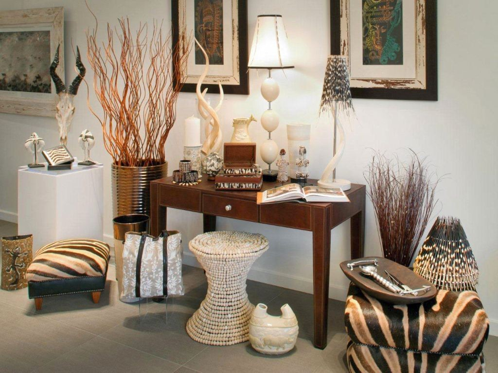 20 natural african living room decor ideas for Accessoires decoration