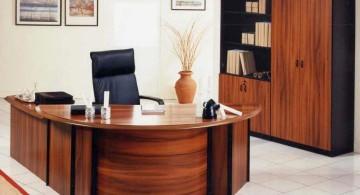 varnished sleek office desk