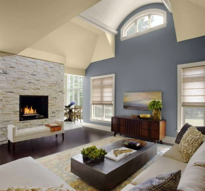 Vaulted Ceilings With Blue Walls