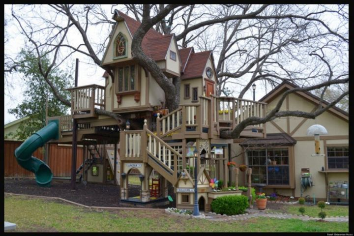 very amazing big treehouse luxury outdoor playhouse