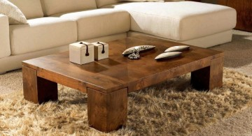 very low wood coffee table designs