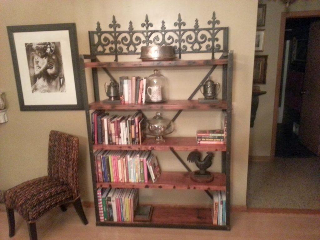 victorian designed vintage industrial bookcase designs