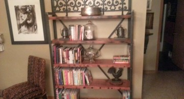 victorian designed vintage industrial bookcase designs