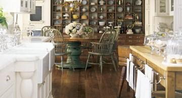 vintage and retro kitchen design in white