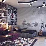 vintage black and white teenage rooms ideas
