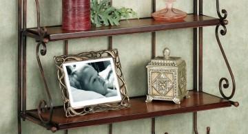 vintage floating shelf decorating ideas