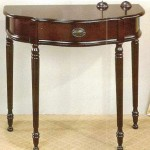 vintage half moon small entry table ideas with single drawer