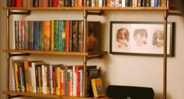 vintage industrial bookcase designs for dorm room