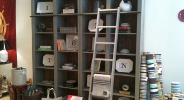 vintage industrial bookcase designs with small cubicles