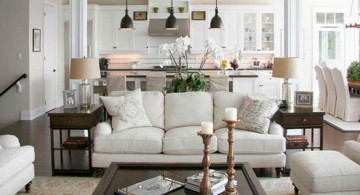 vintage living room ideas in white for small space