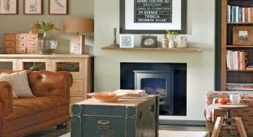 vintage living room ideas with repurpose chest