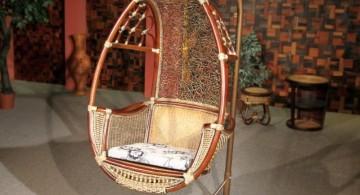vintage looking bedroom swing chair
