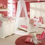 warm pink baby room ideas