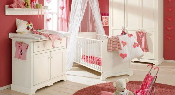 warm pink baby room ideas