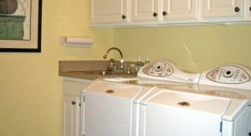 white cabinets small laundry room designs