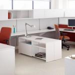 white minimalist office furniture