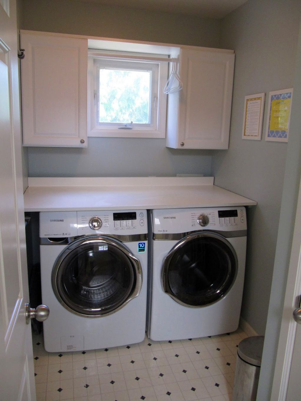 White small cabinets for small laundry room designs for Small utility room